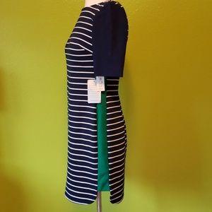 Eliza J striped green panel dress, 2P